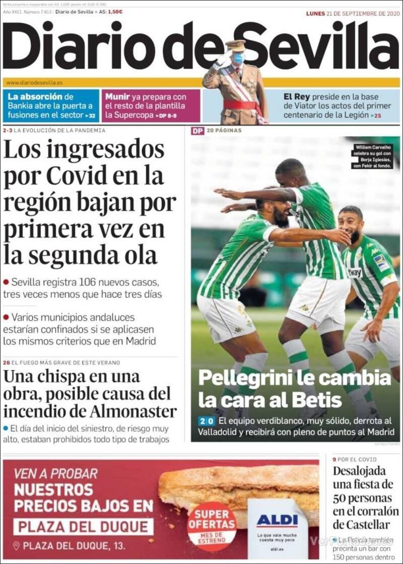 Portada La Voz de Galicia 2020-09-21