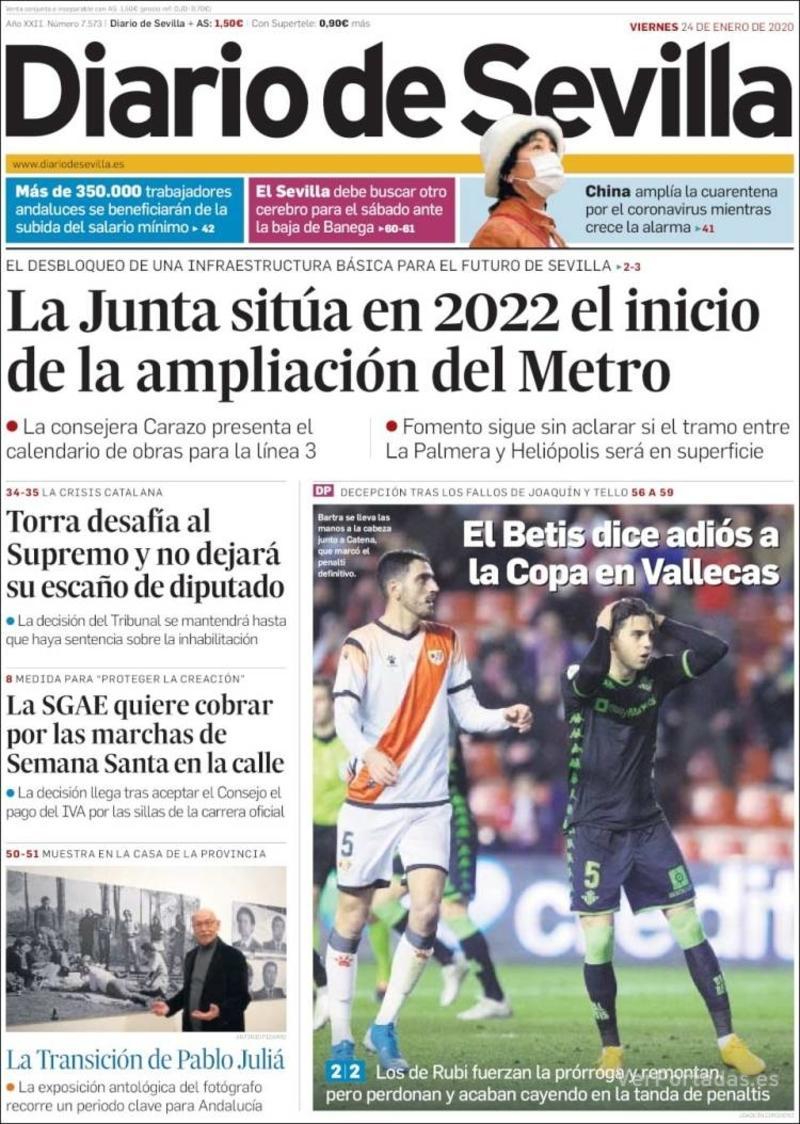 Portada La Voz de Galicia 2020-01-24