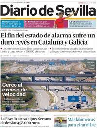 Portada Diario de Sevilla 2020-07-06