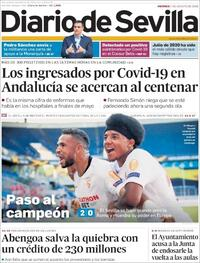 Portada Diario de Sevilla 2020-08-07