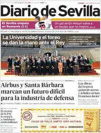 Portada Diario de Sevilla 2020-02-21
