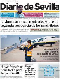 Portada Diario de Sevilla 2020-09-23
