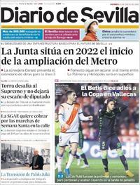 Portada Diario de Sevilla 2020-01-24