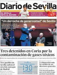Portada Diario de Sevilla 2020-09-24