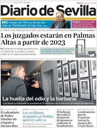 Portada Diario de Sevilla 2020-01-28