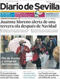 Portada Diario de Sevilla 2020-11-30