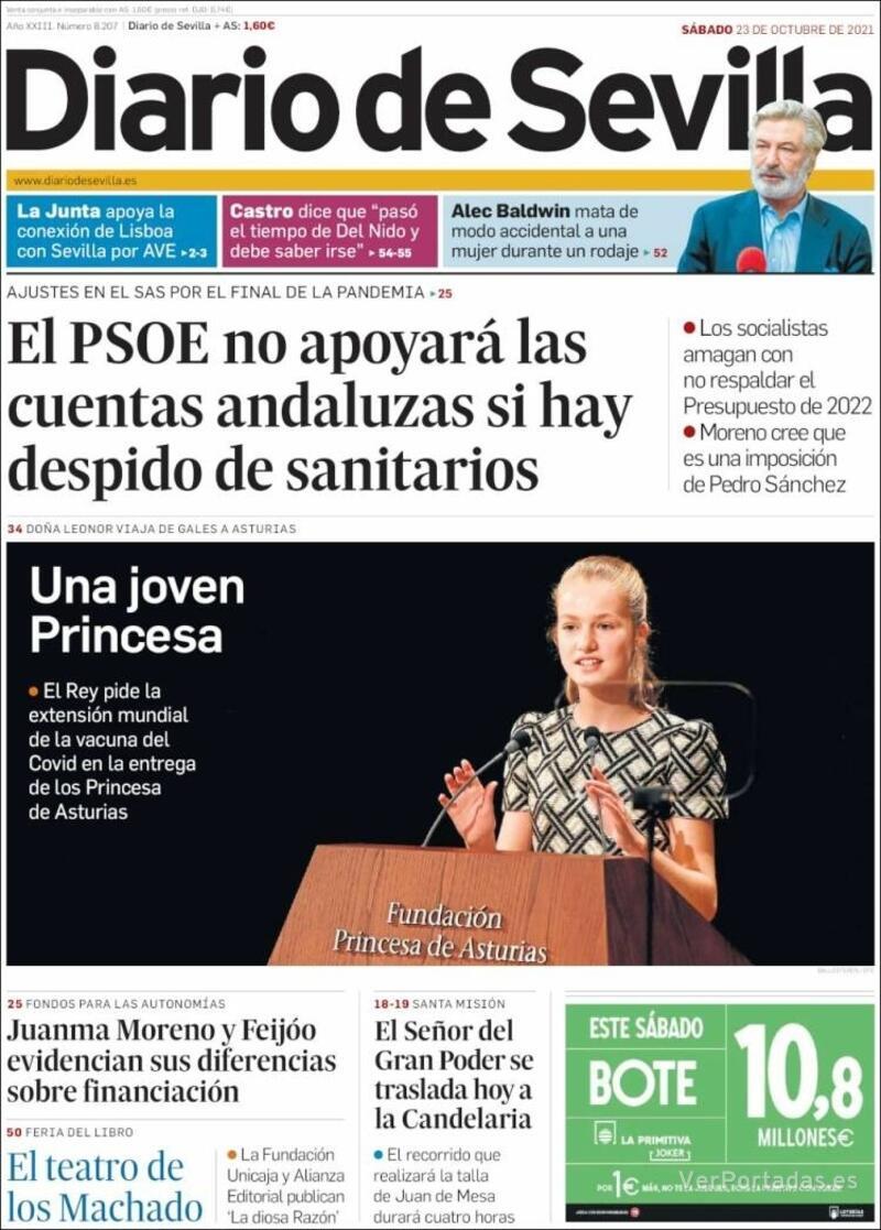 Portada La Voz de Galicia 2021-10-23