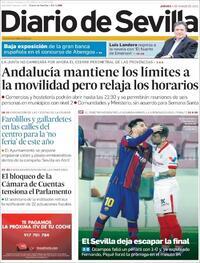 Portada Diario de Sevilla 2021-03-04