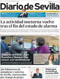 Portada Diario de Sevilla 2021-05-07