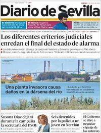 Portada Diario de Sevilla 2021-05-08