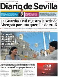 Portada Diario de Sevilla 2021-04-14