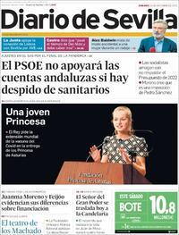 Portada Diario de Sevilla 2021-10-23