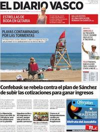 Portada El Diario Vasco 2018-07-19