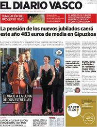 Portada El Diario Vasco 2018-09-25
