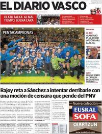 Portada El Diario Vasco 2018-05-26