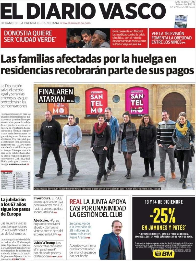 Portada La Verdad 2019-12-11