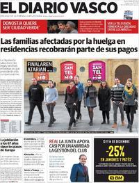 Portada El Diario Vasco 2019-12-11