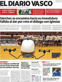 Portada El Diario Vasco 2019-07-16