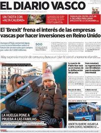 Portada El Diario Vasco 2019-01-17