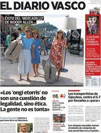 Portada El Diario Vasco 2019-08-17