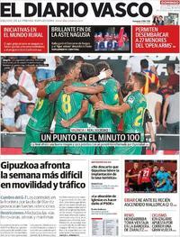 Portada El Diario Vasco 2019-08-18