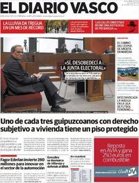 Portada El Diario Vasco 2019-11-19