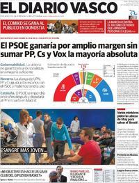 Portada El Diario Vasco 2019-03-25