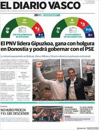 Portada El Diario Vasco 2019-05-27