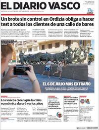 Portada El Diario Vasco 2020-07-06