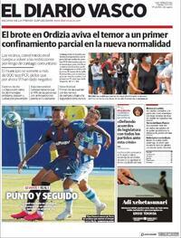 Portada El Diario Vasco 2020-07-07