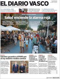 Portada El Diario Vasco 2020-08-07