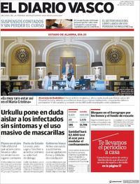 Portada El Diario Vasco 2020-04-08