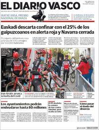 Portada El Diario Vasco 2020-10-20