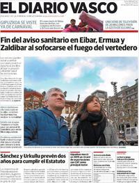 Portada El Diario Vasco 2020-02-21