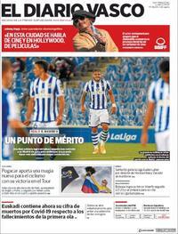 Portada El Diario Vasco 2020-09-21