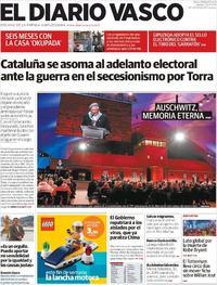 Portada El Diario Vasco 2020-01-28