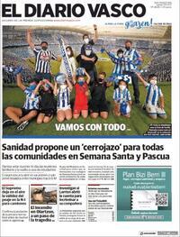 Portada El Diario Vasco 2021-03-04