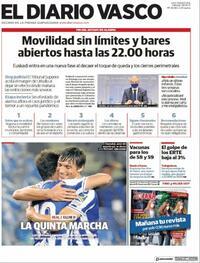 Portada El Diario Vasco 2021-05-08