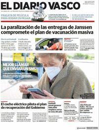 Portada El Diario Vasco 2021-04-14