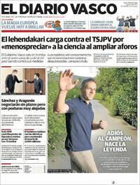 Portada El Diario Vasco 2021-09-16