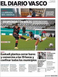 Portada El Diario Vasco 2021-01-21