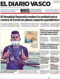 Portada El Diario Vasco 2021-10-23