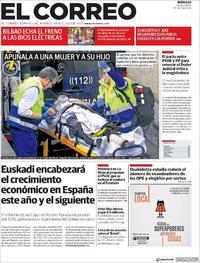 Portada El Correo 2018-11-13