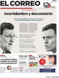 Portada El Correo 2018-05-26