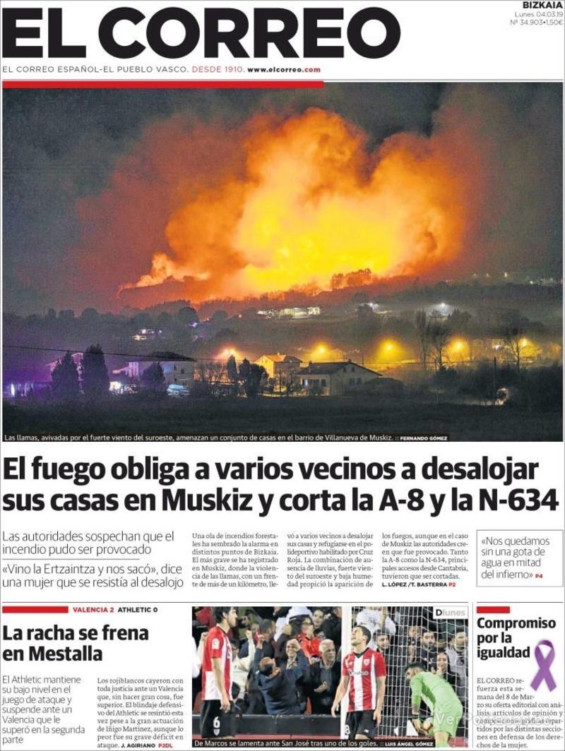 Portada El Correo 2019-03-04