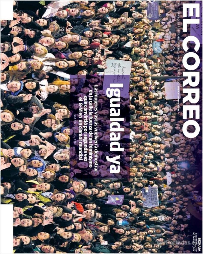 Portada El Correo 2019-03-09