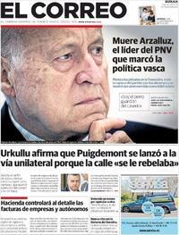 Portada El Correo 2019-03-01