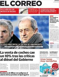 Portada El Correo 2019-01-03