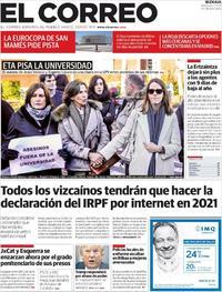 Portada El Correo 2019-12-11