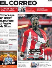 Portada El Correo 2019-01-14
